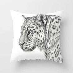 Panthera  Throw Pillow by S-Schukina - $20.00