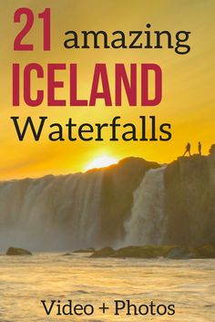 Iceland Travel | Discover 21 Iceland Waterfalls in Photos and Videos - the most majestic, the unusual, the largest falls... Includes the famous Seljalandsfoss and Skogafoss, as well as off the beaten track waterfalls     *** Iceland things to do | Iceland Scenery | Scenery & Wanderlust | Travel Inspiration