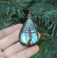 Tree Of Life Necklace, Tree Of Life Pendant, Viking Jewelry, Copper Jewelry, Labradorite Healing Properties, Copper Anniversary Gifts, Jewelry Polishing Cloth, Unique Necklaces, Pagan