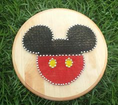 Mickey inspired string art! Check out this item in my Etsy shop https://www.etsy.com/listing/199100216/mickey-mouse-inspired-string-art-custom