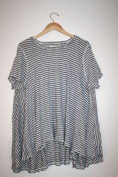 WE THE FREE by FREE PEOPLE CIRCLE IN THE SAND TEE STRIPED SHIRT TOP BOHO SMALL #FreePeople #BasicTee
