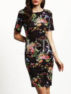 14$  Buy here - http://digzi.justgood.pw/go.php?t=1339 - Short Sleeve Floral Print Sheath Dress