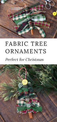 Just in time for Christmas, learn how to make Primitive Scrap Fabric Tree Ornaments from fabric remnants, cinnamon sticks, and buttons. This DIY is an easy and fun Christmas craft for kids. christmas How to Make Primitive Scrap Fabric Tree Ornaments Christmas Crafts For Kids To Make, Christmas Projects, Simple Christmas, Christmas Button Crafts, Christmas Crafts For Gifts For Adults, Button Crafts For Kids, Christmas Fabric Crafts, Preschool Christmas, Christmas Sewing
