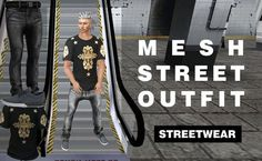 MESH STREET OUTFIT Standart 5 sizes Jeans,T-shirt,Sneakers Resizeable + Alphas