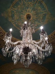 Authentic Tiffany chandeliers found in Flagler College - more stunning in person! I was in chandy heaven! :)