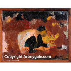 Homme acroupis - Oeuvre Authentique - 180,00 €  #Art #Artiste