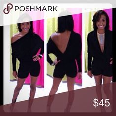 Sexy blk romper Great black romper for going out with the girls or with your special someone Jackets & Coats