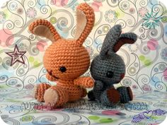 Conejos Kawaii amigurumi