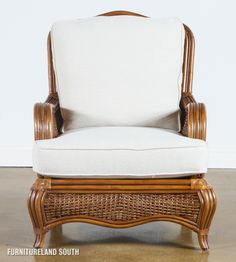 Braxton Culler Shorewood Wicker / Rattan Accent Chair with Cushions