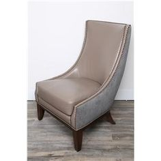 Porto Granite Exposed Wood Accent Chair by HM Richards at John V