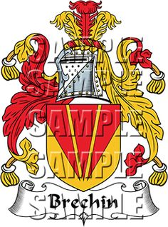 Brechin Family Crest apparel, Brechin Coat of Arms gifts