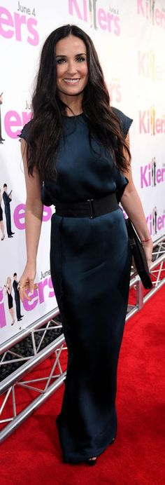 "Demi Moore in Lanvin Fall 2009 dress and Ferragamo clutch at the L.A. premiere of ""Killers"", June 2010"