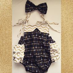 Gold and Black Romper <3
