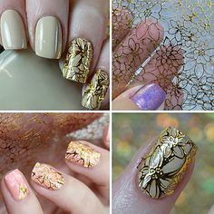 1 Sheet Embossed 3D Nail Stickers Blooming Flower 3D Nail Art Stickers Decals 5499772 2017 – £2.54