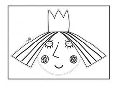 Your child can cut out and colour in this Holly face mask template for Ben & Holly's Little Kingdom dressing up games! iChild.co.uk