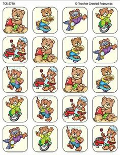 Teacher Created Resources Summer Bears Stickers, Multi Color (5740) by Teacher Created Resources. $4.99. 120 Self-Adhesive stickers per pack. Great for incentives and decorations.