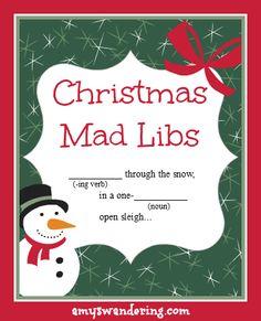 FREE Christmas Mad Libs!