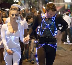 Tron Duo | Creative and Funny DIY Costumes For Halloween by DIY Ready at http://diyready.com/11-diy-couples-halloween-costumes/