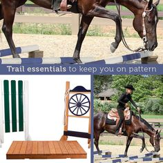 Complete your course with obstacles found in competitive trail patterns to give your horse the preparation he needs to excel in the show ring. SAVE with our exclusive trail packages!