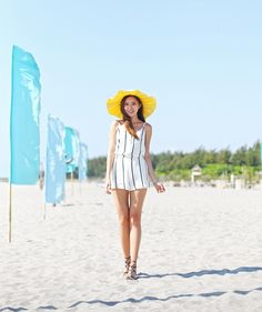 Striped Playsuit Fashion - Camille Tries To Blog Camille Co, Fashion Models, Fashion Beauty, Striped Playsuit, Beach Fashion, Cebu, Daily Look, Travel Style, Style Icons