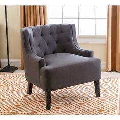 Shop for ABBYSON LIVING Casey Charcoal Tufted Fabric Armchair. Get free shipping at Overstock.com - Your Online Furniture Outlet Store! Get 5% in rewards with Club O!