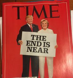 Trump and Hillary Time magazine cover - This Time magazine cover featuring Donald Trump and Hillary Clinton has a double meaning lolz
