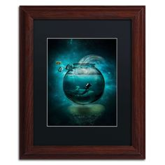 'Two Lost Souls' by Erik Brede Framed Graphic Art