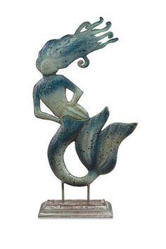 Maidas Mermaid Statuary - Blue