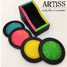 Colección Full Color :::🌈Juego de portavasos con estuche::: 🌈