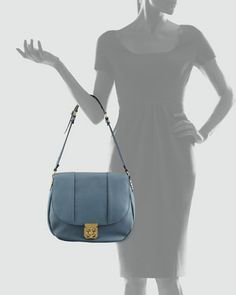 Chloe Elsie Neo Folk Shoulder Bag, Medium - Neiman Marcus