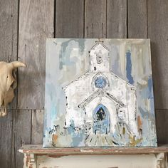 round top chapel canvas // deannart // junk gypsy co