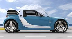 smart roadster | Smart Roadster Traveler 3D Model in Cinema 4D scene setup - render ...