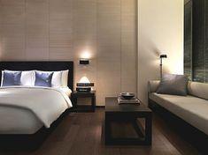 Wonderful Minimalist Villa 2013 for Your Concept : Lavish Bedroom Interior Design With Wooden Table In Minimalist Villa