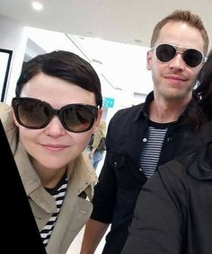 Ginny and Josh arriving at Vancouver airport