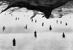 Chinese contemporary artist Gao Xingjian, La fin du monde, 2006 on ArtStack #gao-xingjian #art #ink #inkart #bw