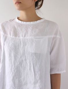 Blouse with pocket #linen