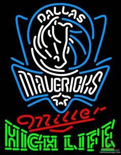 Miller High Life Dallas Mavericks Neon Sign NBA Teams Neon Light