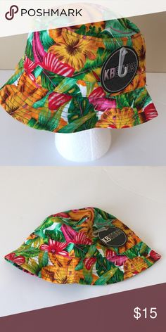 BRAND NEW! KBethos Floral Print Bucket Hat BRAND NEW! Never worn. KBethos Floral Print Bucket Hat. Premium bucket hat. High quality cotton crown. Polly brim. Breathable crown. Great ventilation. One size fits most. Fits more comfortably for medium size to large. Makes a great gift! KBethos Accessories Hats