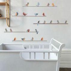 Positionnables en frise ou en ligne superposées, ces stickers oiseaux apporteront une jolie touche poétique à une chambre d'enfant.Planche de stickers contenant 22 oiseaux à positionner selon vos envies. Hauteur max - élément : 10 cm.Largeur maximum au mur si disposition en frise : 300 cmDesign : Art For Kids.Parce que les enfants sont créatifs, audacieux, intuitifs, passionnés, Art For Kids se base sur leur imaginaire pour créer un univers original, ludique et coloré et avec un design é...