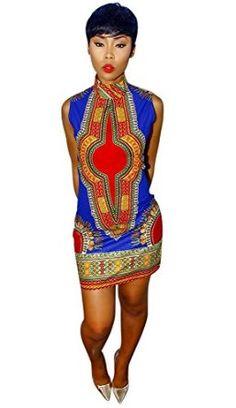 Slim Dashiki Traditional African Mini Dress Club Wear (on sales)