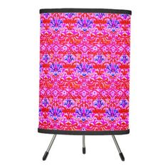 Vibrant Boho Tripod Table Lamp - red gifts color style cyo diy personalize unique