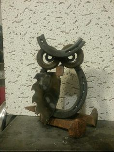 Owl Metal Art by Lou Braddy