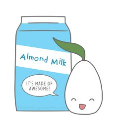 themilkdrops: This is a redraw of an early Milkdrops image. Show the world your affection for awesome almond milk by purchasing this design on a shirt!