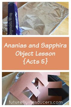 This Ananias and Sapphira object lesson will help our children understand that lying and sneakiness are not steps on the narrow path of godliness. {Growing in Godliness Series} ~ futureflyingsaucers.com