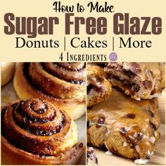 Sugar Free Glaze Recipe for Baked Goods Sugar Free Glaze Recipe, Sugar Free Frosting, Sugar Free Recipes, Icing Recipe, Sugar Glaze, Sugar Free Deserts, Sugar Free Sweets, Sugar Free Cookies, Sugar Free Diet