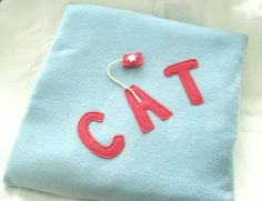 Fleece Cat Cushion with Catnip Play Toy, Cat Be... - Folksy