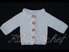 Crochet Very Easy Cardigan (pt 1/2) - YouTube