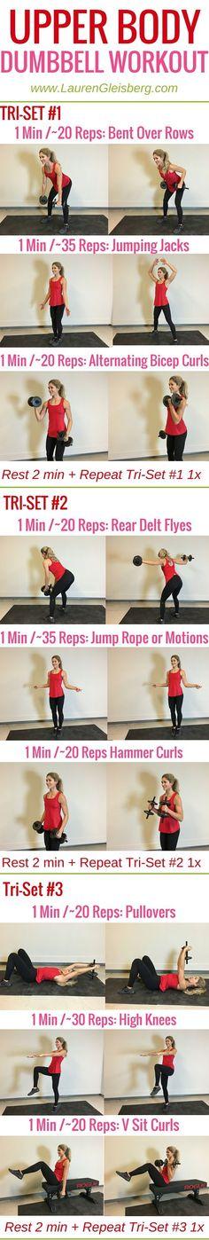Week 4 Day 5 | Home Version | Upper Body Dumbbell Workout | #LGFitmas Lauren Gleisberg: