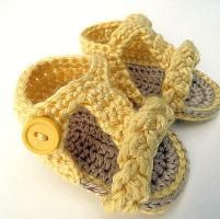 Crocheting : T Strap Braided Sandals