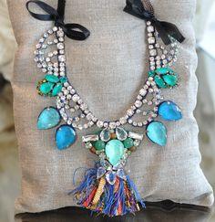 Rada Tassle Jeweled Necklace
